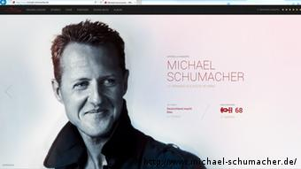 Screenshot der Website von Michael Schumacher