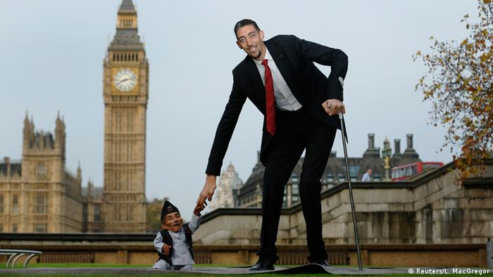 Guinness record, tallest and shortest men