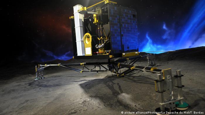 Philae auf dem Kometen 67P/Tschurjumow-Gerassimenko (Foto: ESA)
