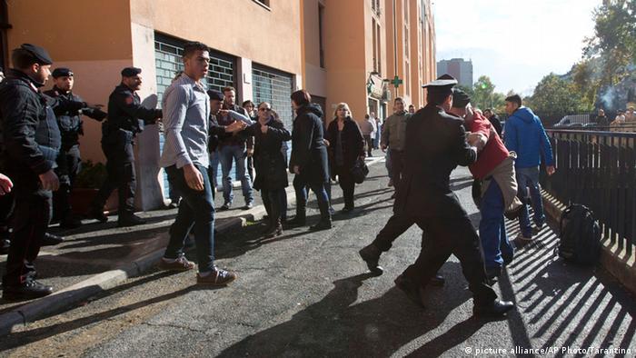 Proteste von Migranten in Italien