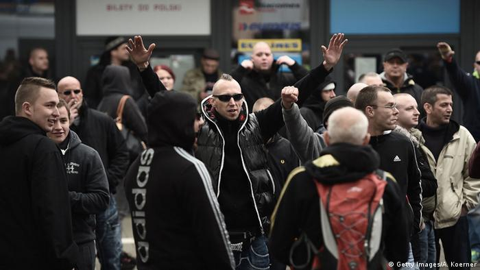 Demo of hooligans in Hanover (Getty Images/A. Koerner)