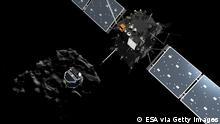 Raumfahrt ESA Weltraumsonde Rosetta Philae Bild von dem Tschurjumow-Gerassimenko Komet