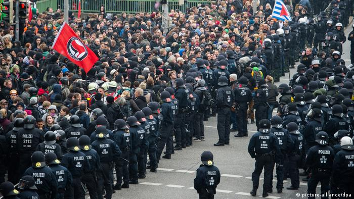 Hooligan-Demo in Hannover 15.11.2014