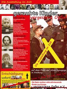 Ausstellung Plakat geraubte Kinder – vergessene Opfer