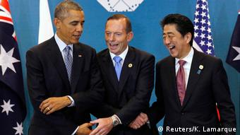 G20 Gipfel in Brisbane Obama Abbott Abe