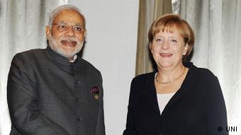 Indian Prime Minister Narendra Modi and German Chancellor Angela Merkel