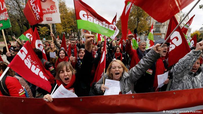 Frankreich Paris Demonstration gegen Reformen 15.11.2014 (Reuters/Gonzalo Fuentes)
