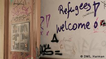 Grafitti Refugees welcome