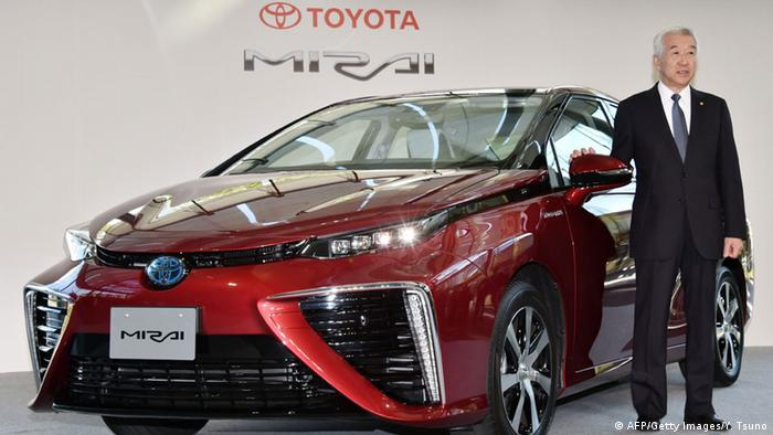 Toyota Mirai fuel-cell car presentation in Tokyo 18/11/2014