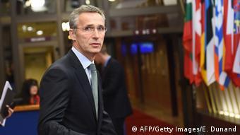 Jens Stoltenberg beim UE Verteidigungsminister Treffen in Brussel 2014/11/18