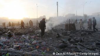 Debris in Aleppo (Photo credit should read ZEIN AL-RIFAI/AFP/Getty Images)