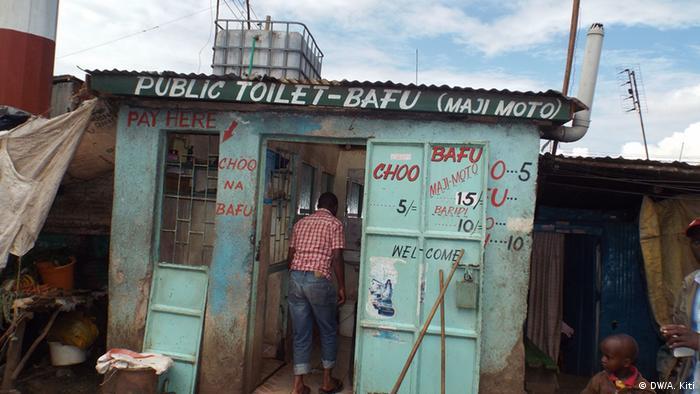 Kibera slum toilets