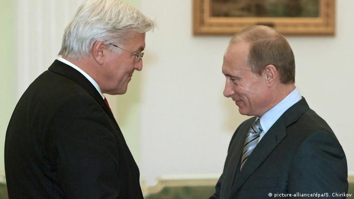 Russland Deutschland Gazprom Steinmeier bei Putin in Moskau