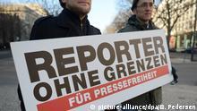 Reporter ohne Grenzen fordern Pressefreiheit
