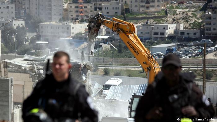 Israel zerstört ein palästinensisches Haus in Ostjerusalem Archiv März 2014