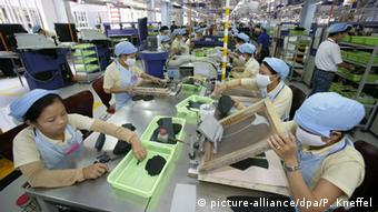 Adidas factory in Vietnam