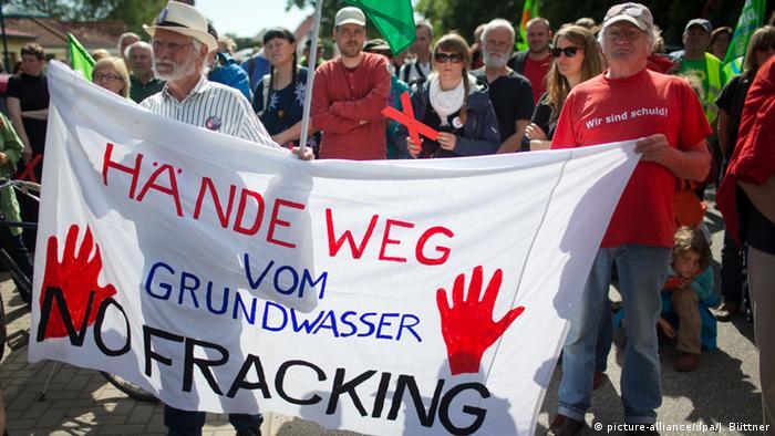 Протесты против фрекинга в Германии, май 2014 года