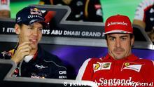 Fernando Alonso Sebastian Vettel Formel Eins