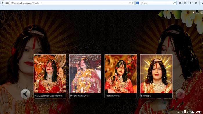 Screenshot Website - Radhe Maa, Guru in Indien EINSCHRÄNKUNG