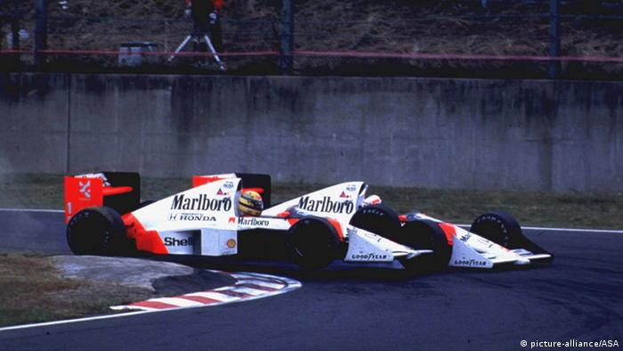 Formel 1 Großer Preis von Japan 1989 Kollision Senna Prost (picture-alliance/ASA)