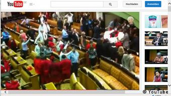 Südafrika Parlament in Cape Town Screenshot Chaos