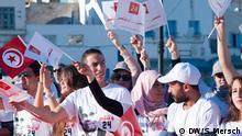 ****Verwendung nur für den DW Beitrag von Sarah Mersch zur Präsidentschaftswahl in Tunesien am 23.11.2014!!!!****** Anhänger Marzouki: Sie würden Marzouki gerne wieder im Präsidentenpalast sehen Aufgenommen von Sarah Mersch im November 2014 in Tunis, Manouba und Bizerte, Tunesien; ich stelle sie der DW zur Nutzung NUR im Zusammenhang mit diesem Beitrag zur Verfügung!