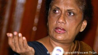 Sri Lanka ehemalige Präsidentin Chandrika Kumaratunga