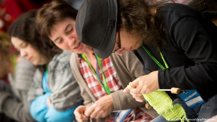 Плетки на партийния конгрес на Зелените в Хамбург през 2014