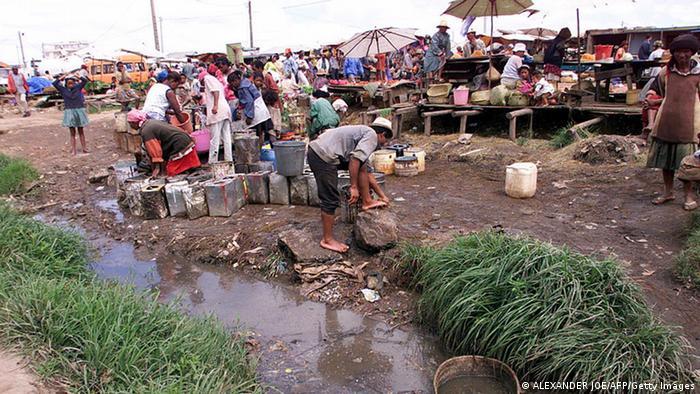 A market at a slum in Madagascar