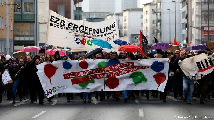 Blockupy Demonstration EZB Frankfurt 22.11.2014