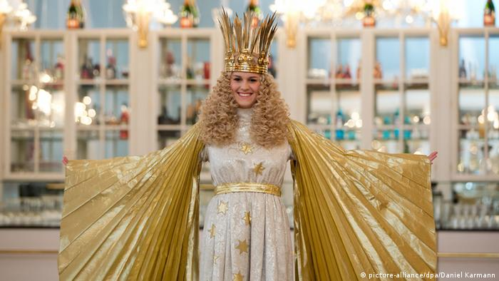 Nürnberger Christkind - a woman dressed as the Christ Child who opens the Christmas market in Nuremberg