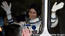 Sojus-Rakete zur Raumstation ISS gestartet (Samantha Cristoforetti)