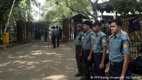 Bangladesch Polizisten vor dem Kriegsverbrechertribunal 13.11.2014 Dhaka