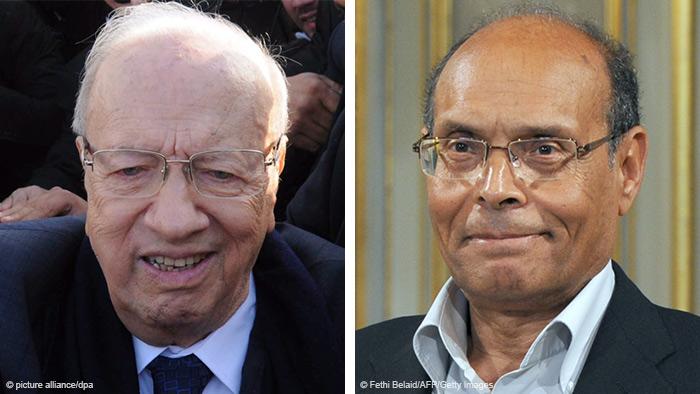 Kombi-Bild Beji Caid Essebsi und Moncef Marzouki