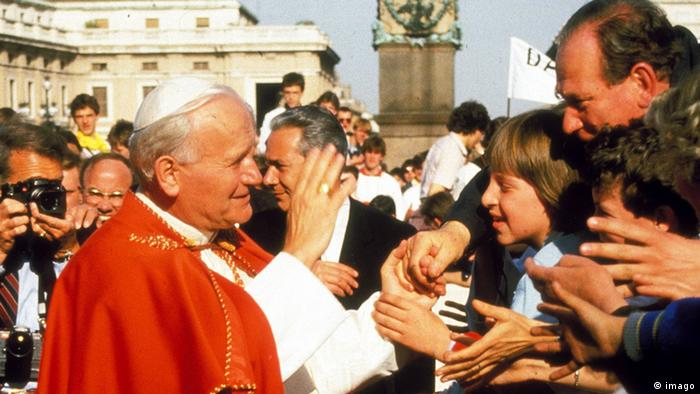 Papst Johannes Paul II 15.07.1988 Petersplatz