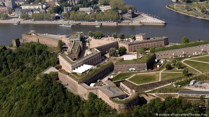 Немецкий угол - место впадения Мозеля в Рейн
