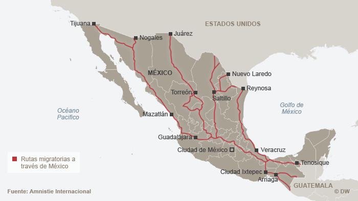 Miles de migrantes centroamericanos cruzan México ilegalmente cada año. De las diferentes rutas que llevan de sur a norte, todas son peligrosas. Una de las más conocidas es la del tren de la muerte, también conocido como la Bestia. En el, los migrantes inician su travesía hacia los Estados Unidos por el sureste mexicano: Yucatán, Campeche, Tabasco, Chiapas y Veracruz.