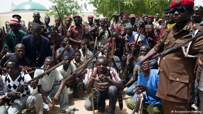 Nigeria Traditionelle Jäger Anti Boko Haram Kämpfer