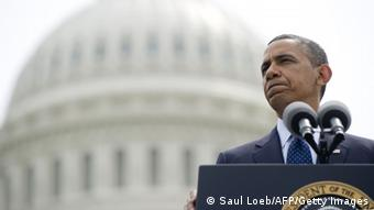 Barack Obama vor dem Kapitol in Washington - Foto: Saul Loeb (AFP)