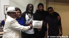 Bild: Anne-Julie Martin Bildbeschreibung: Westafrikanische Musiker bei der Präsentation von Africa stop Ebola