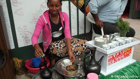 Äthiopien Addis Abeba Kaffee Wirtschaft Eyerusalem Mesele