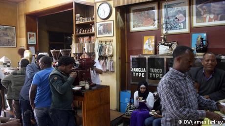 Äthiopien Addis Abeba Kaffee Wirtschaft Kaffeehaus