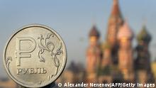 Symbolbild Russland Wirtschaft Rezession Rubel Sanktionen