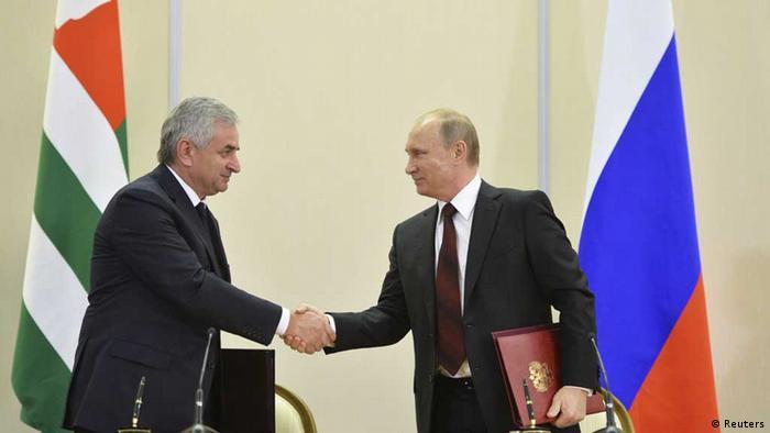 Putin/ Chadschimba/ Abchasien
