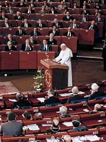 Papst Johannes Paul II Rede vor dem europäischen Parlament in Straßburg 1988