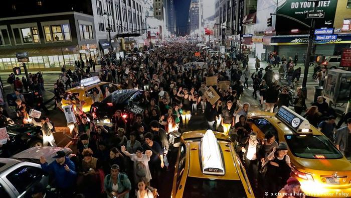 Ferguson Entscheidung Grand Jury - Protest in New York 24.11.2014
