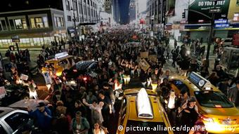Ferguson Entscheidung Grand Jury - Protest in New York 24.11.2014