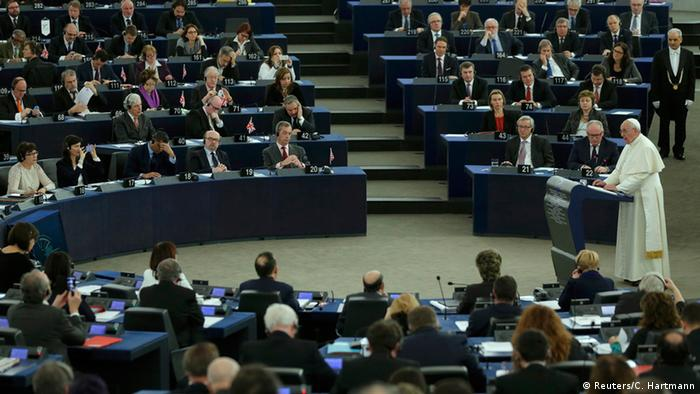 Papst Franziskus besucht Straßburg 25.11.2014 Rede Europaparlament