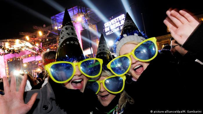 Silvesterparty in Berlin. Foto: dpa