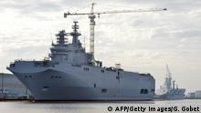 Sevastopol Kriegsschiff für Russland im Hafen von Saint-Nazaire Frankreich 21.11.2014
